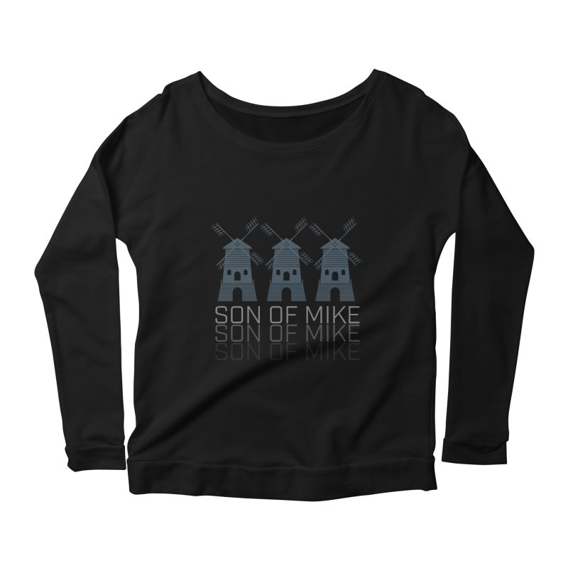 """Son of Mike """"Windmill III"""" Women's Scoop Neck Longsleeve T-Shirt by Turkeylegsray's Artist Shop"""