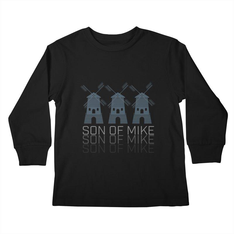 """Son of Mike """"Windmill III"""" Kids Longsleeve T-Shirt by Turkeylegsray's Artist Shop"""