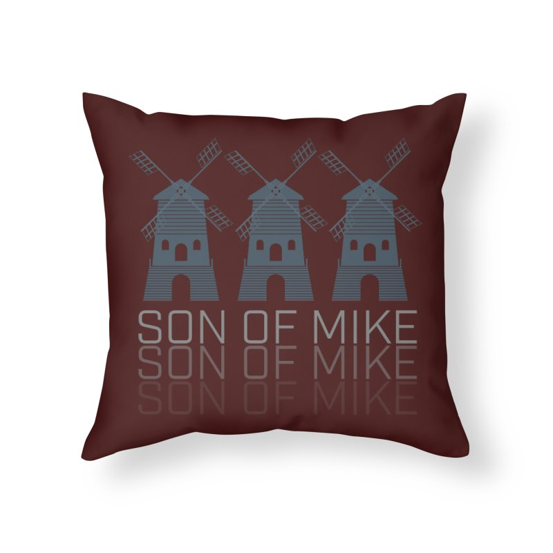 "Son of Mike ""Windmill III"" Home Throw Pillow by Turkeylegsray's Artist Shop"