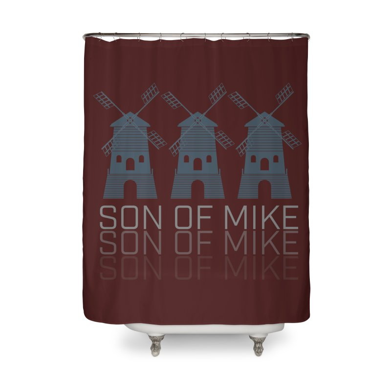 """Son of Mike """"Windmill III"""" Home Shower Curtain by Turkeylegsray's Artist Shop"""