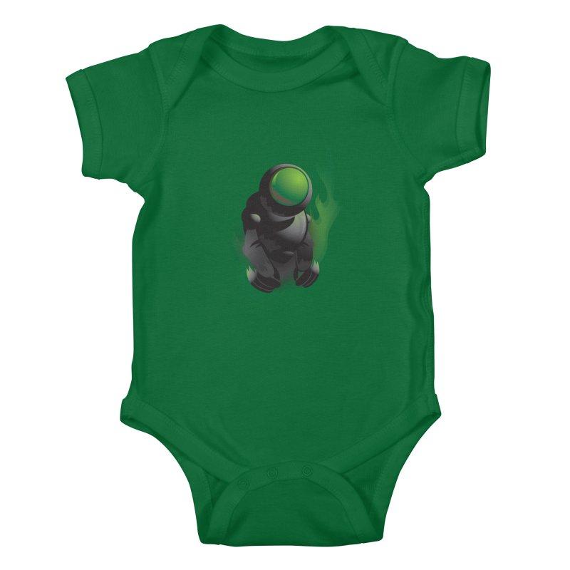 Green Robot Kids Baby Bodysuit by Turkeylegsray's Artist Shop