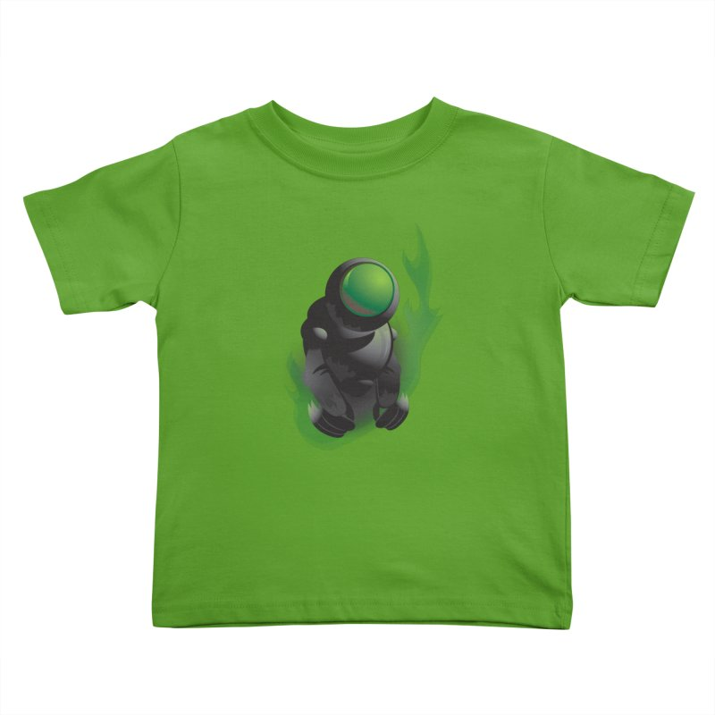 Green Robot Kids Toddler T-Shirt by Turkeylegsray's Artist Shop