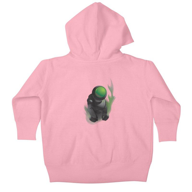 Green Robot Kids Baby Zip-Up Hoody by Turkeylegsray's Artist Shop