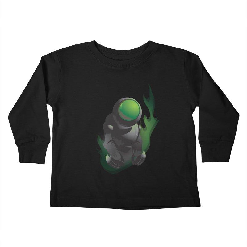 Green Robot Kids Toddler Longsleeve T-Shirt by Turkeylegsray's Artist Shop