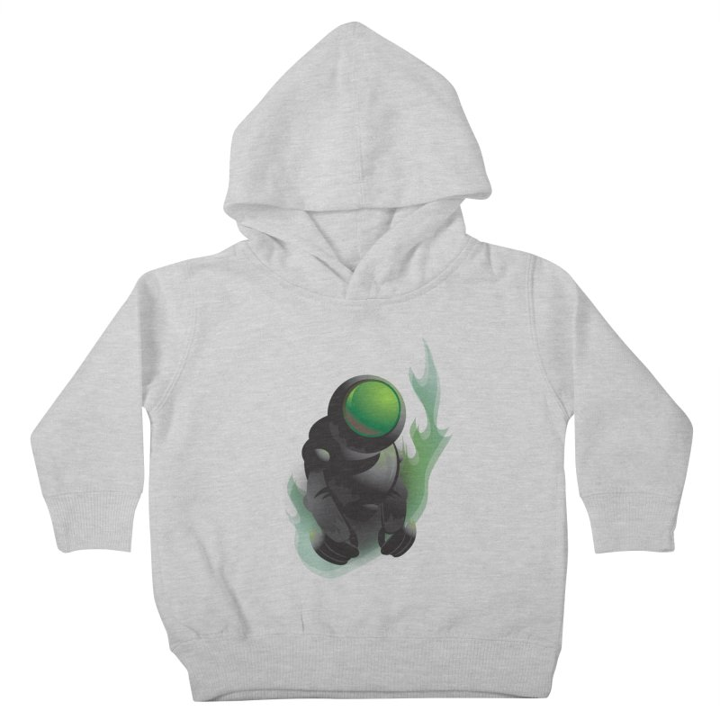 Green Robot Kids Toddler Pullover Hoody by Turkeylegsray's Artist Shop