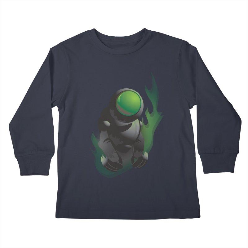 Green Robot Kids Longsleeve T-Shirt by Turkeylegsray's Artist Shop