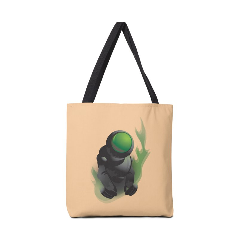 Green Robot Accessories Bag by Turkeylegsray's Artist Shop