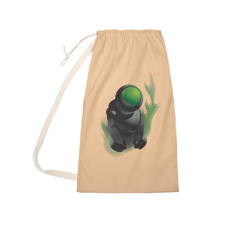 Green Robot Accessories Bag by Turkeylegsray's Artist Shop