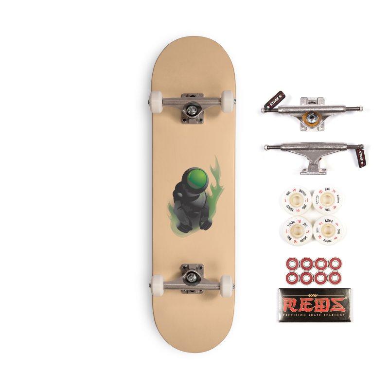 Green Robot Accessories Skateboard by Turkeylegsray's Artist Shop