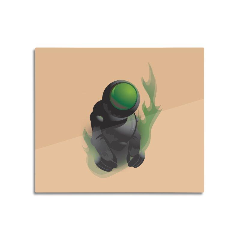 Green Robot Home Mounted Acrylic Print by Turkeylegsray's Artist Shop