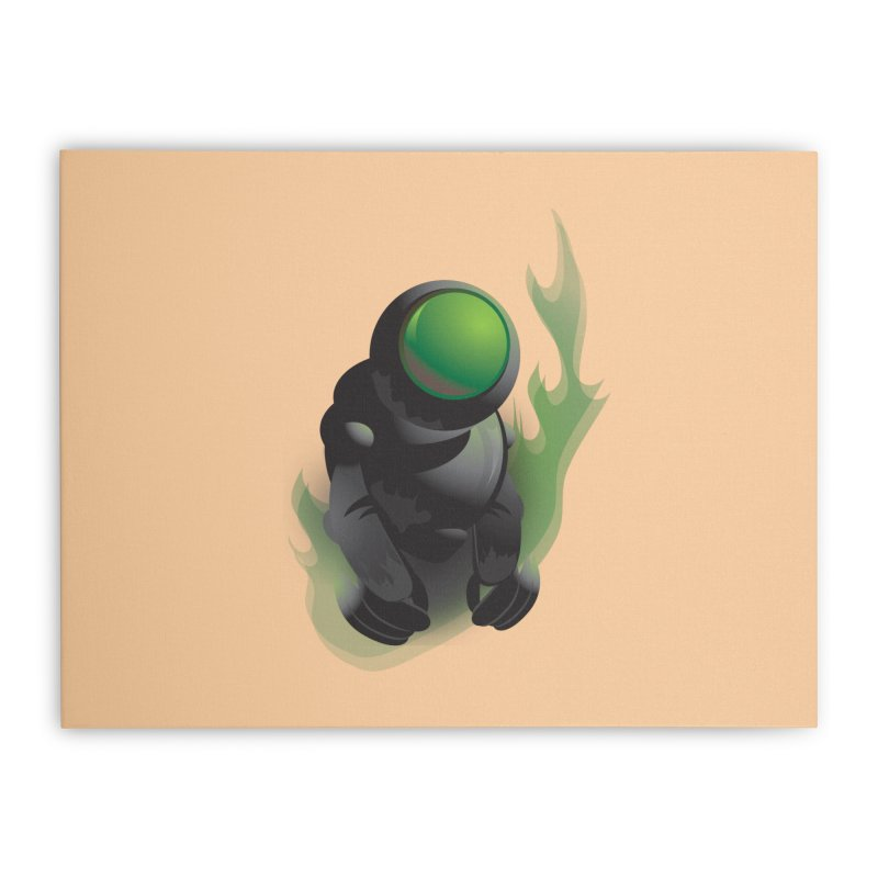 Green Robot Home Stretched Canvas by Turkeylegsray's Artist Shop