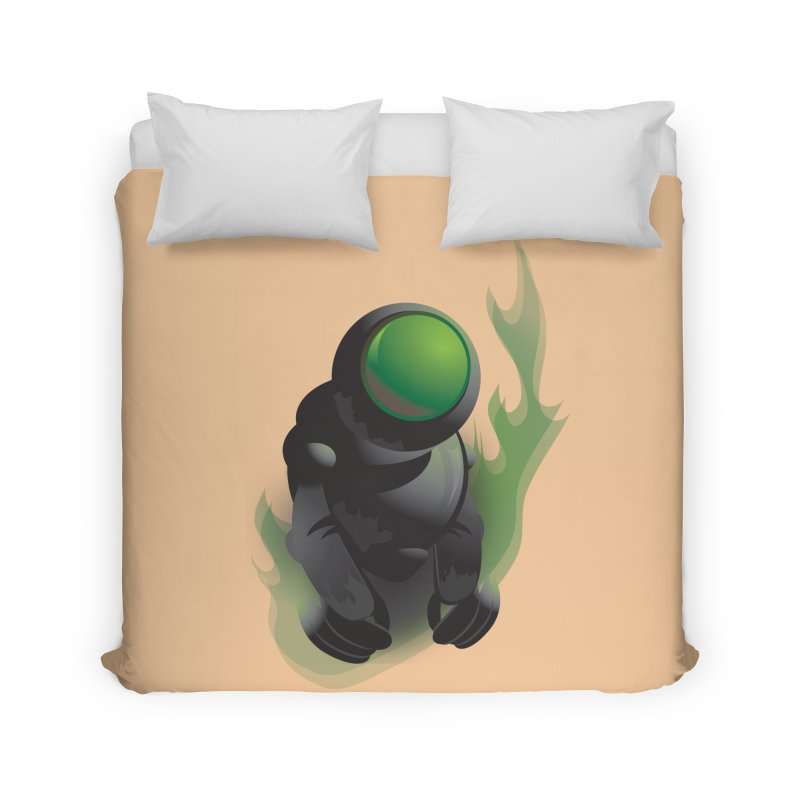 Green Robot Home Duvet by Turkeylegsray's Artist Shop