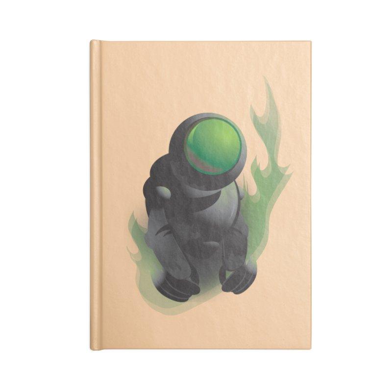 Green Robot Accessories Notebook by Turkeylegsray's Artist Shop
