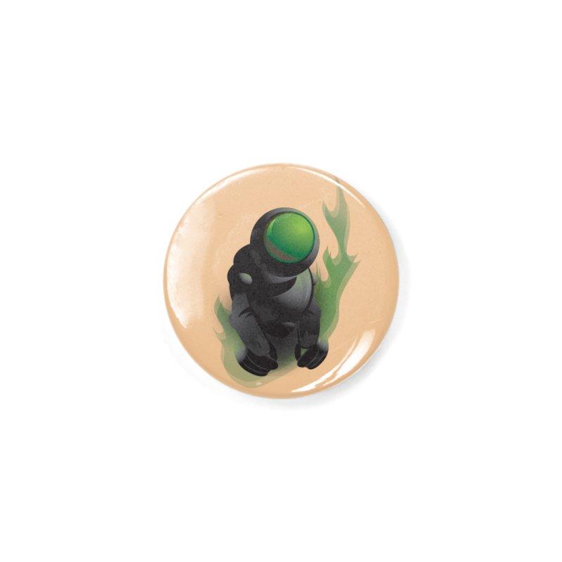 Green Robot Accessories Button by Turkeylegsray's Artist Shop