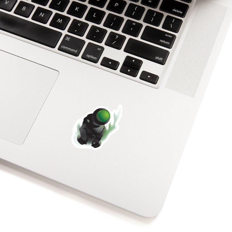Green Robot Accessories Sticker by Turkeylegsray's Artist Shop
