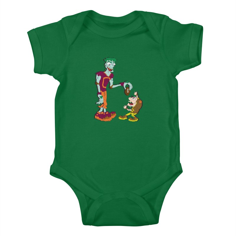 Monster Football Kids Baby Bodysuit by Turkeylegsray's Artist Shop