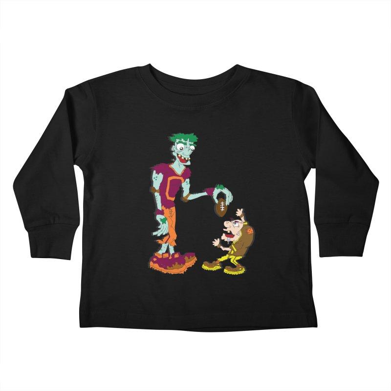 Monster Football Kids Toddler Longsleeve T-Shirt by Turkeylegsray's Artist Shop