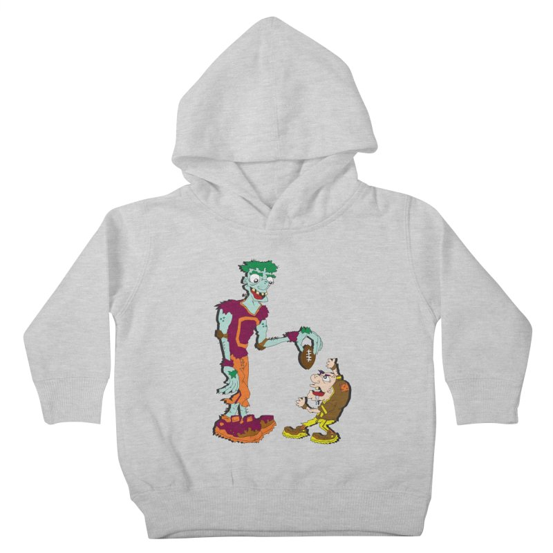 Monster Football Kids Toddler Pullover Hoody by Turkeylegsray's Artist Shop