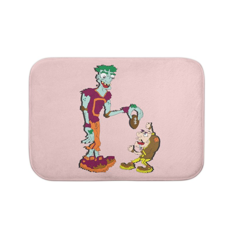 Monster Football Home Bath Mat by Turkeylegsray's Artist Shop