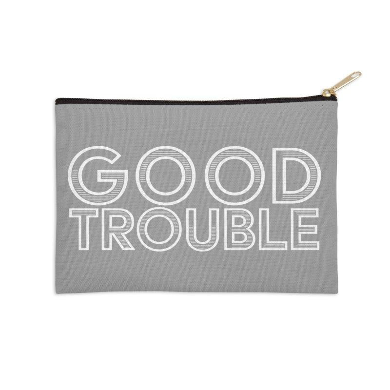 GOOD TROUBLE Accessories Zip Pouch by Turkeylegsray's Artist Shop