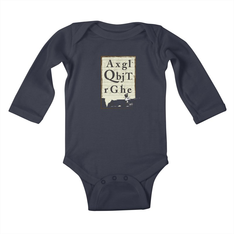Type Kids Baby Longsleeve Bodysuit by Turkeylegsray's Artist Shop