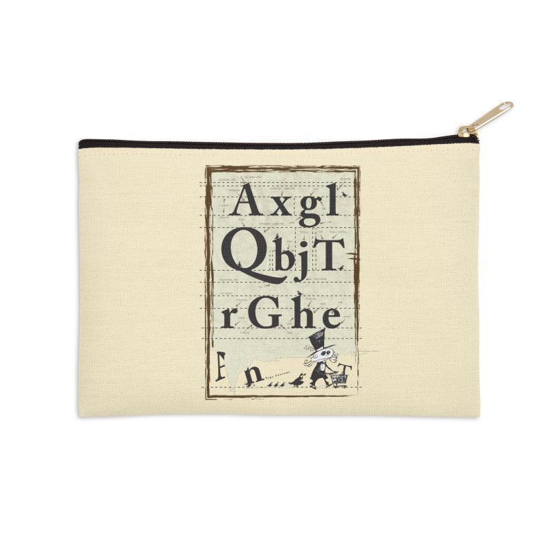 Type Accessories Zip Pouch by Turkeylegsray's Artist Shop