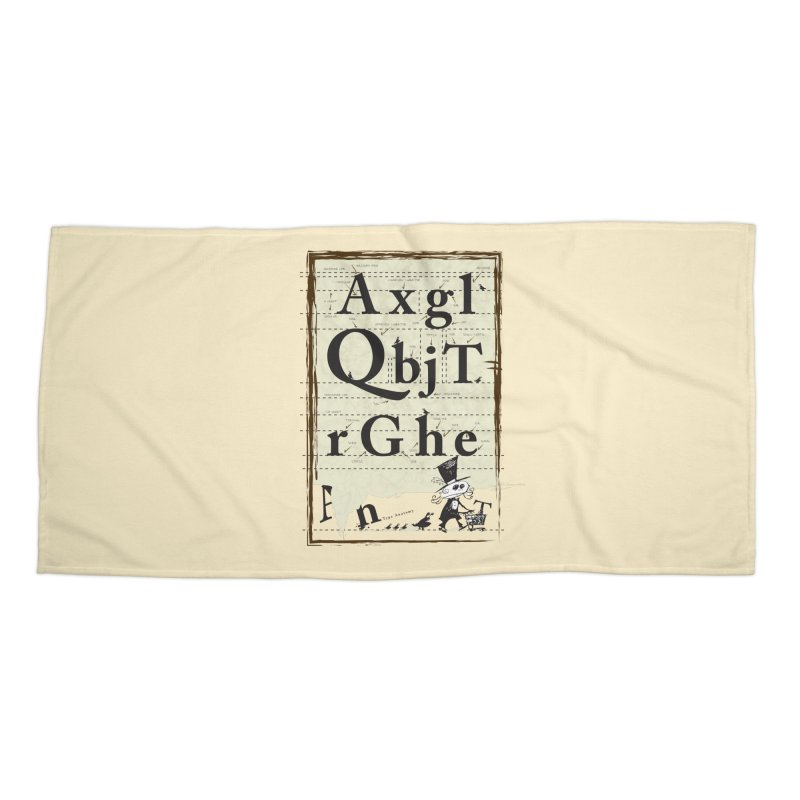 Type Accessories Beach Towel by Turkeylegsray's Artist Shop