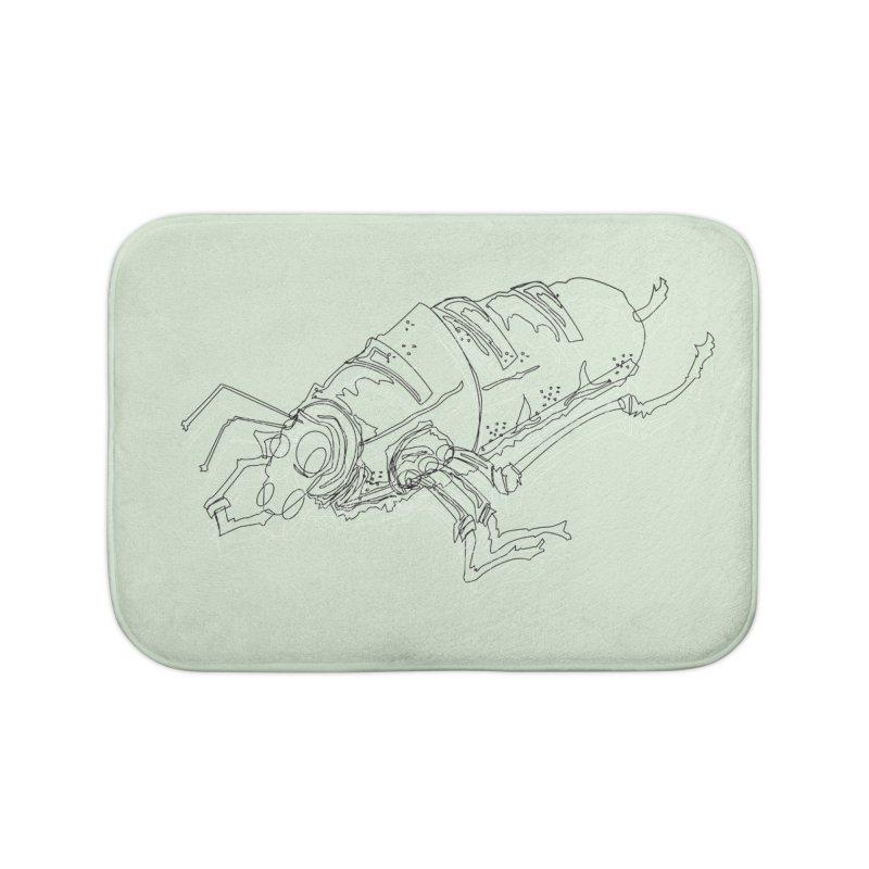 Bread Bug Home Bath Mat by Turkeylegsray's Artist Shop