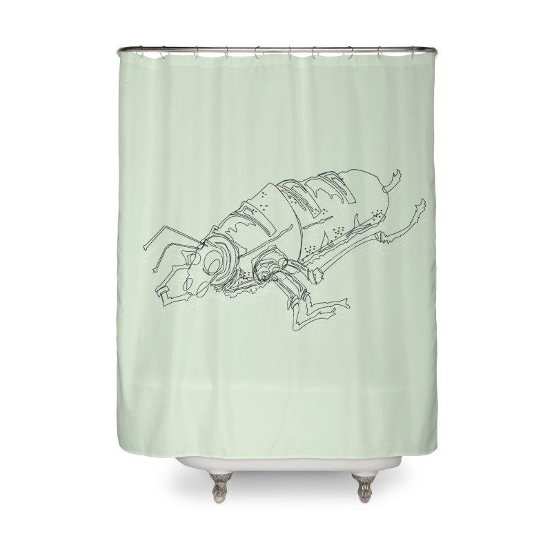 Bread Bug Home Shower Curtain by Turkeylegsray's Artist Shop