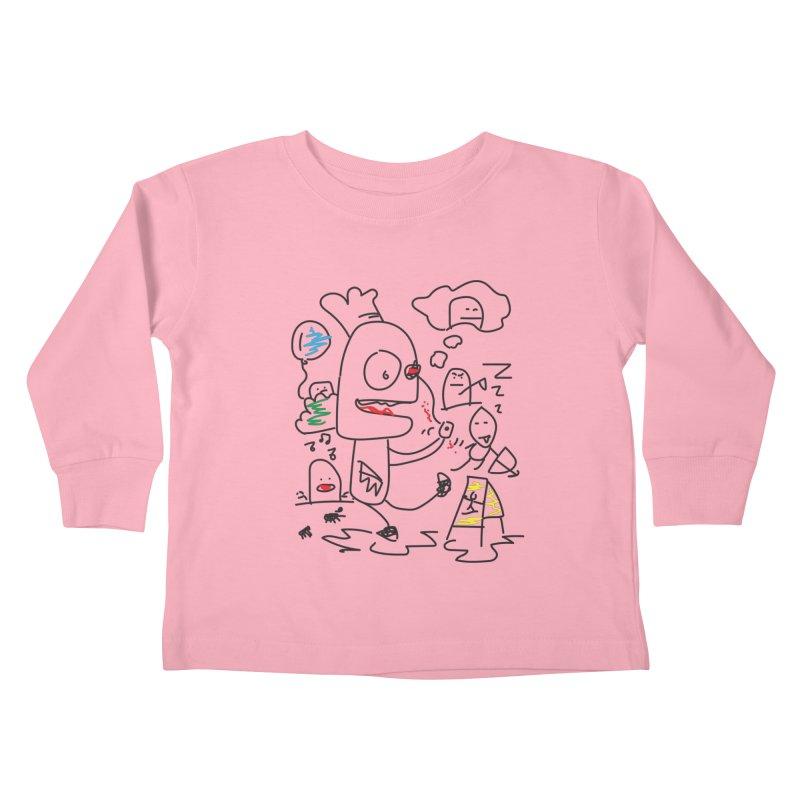 CHAOS Kids Toddler Longsleeve T-Shirt by Turkeylegsray's Artist Shop