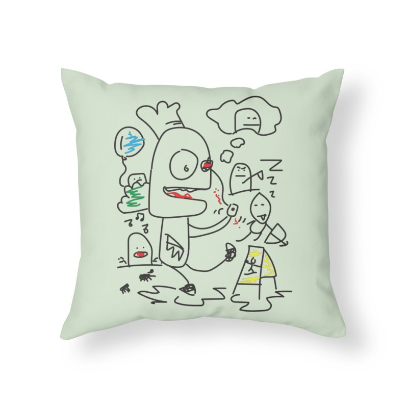 CHAOS Home Throw Pillow by Turkeylegsray's Artist Shop
