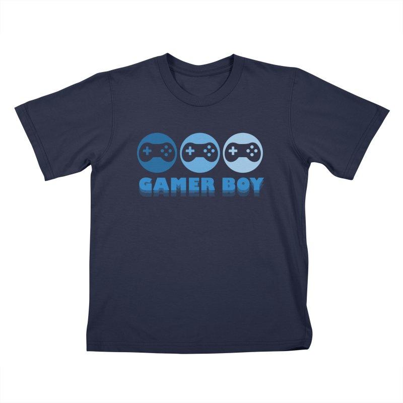 GAMER BOY Kids T-Shirt by Turkeylegsray's Artist Shop
