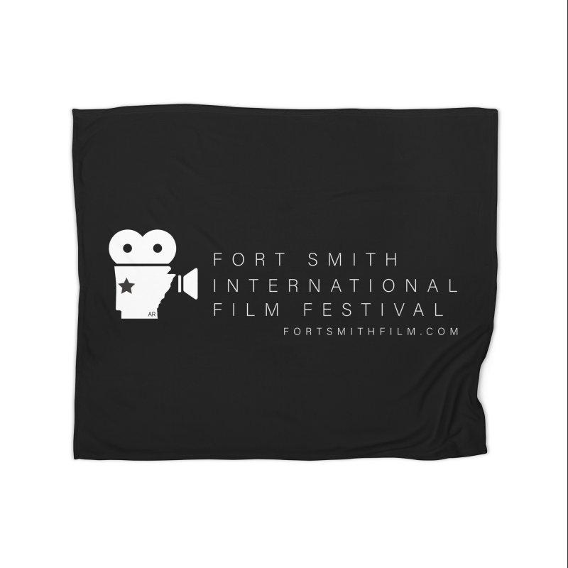 Fort Smith Film Fest (White) Home Blanket by Turkeylegsray's Artist Shop