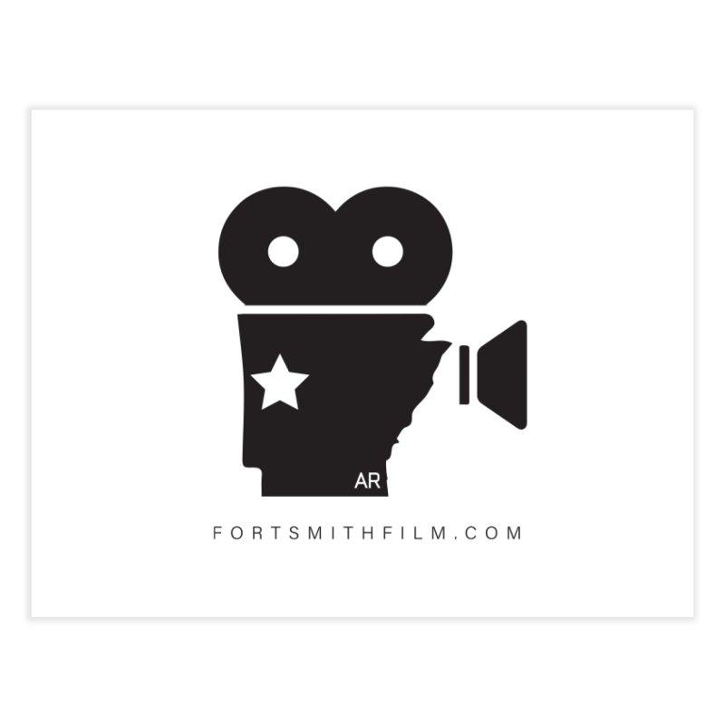 Fort Smith Film Fest Icon (Black) Home Fine Art Print by Turkeylegsray's Artist Shop