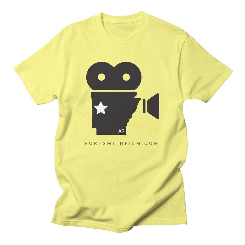 Fort Smith Film Fest Icon (Black) Men's T-Shirt by Turkeylegsray's Artist Shop