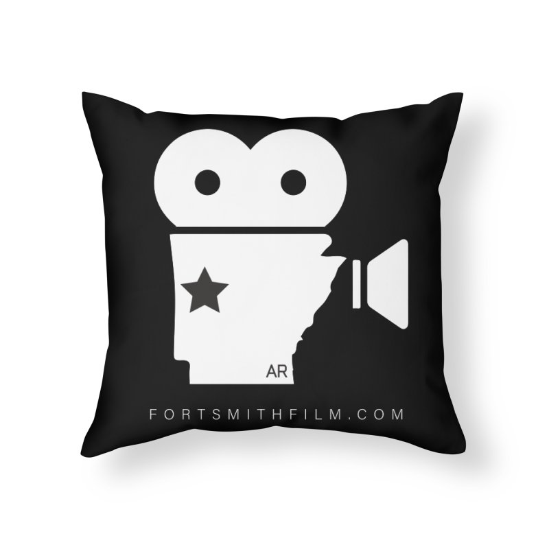 Fort Smith Film Fest Icon (White) Home Throw Pillow by Turkeylegsray's Artist Shop