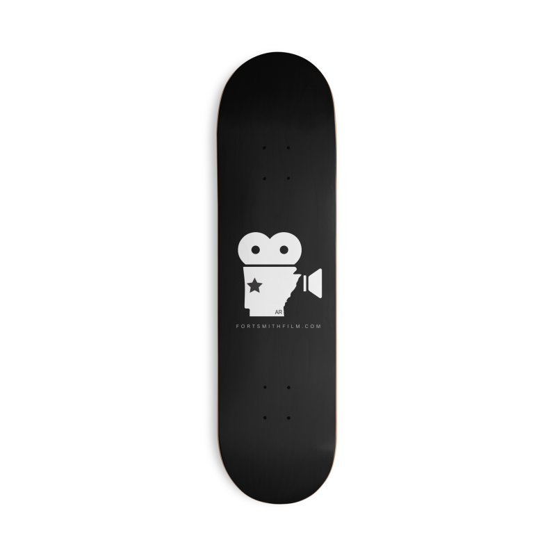 Fort Smith Film Fest Icon (White) Accessories Skateboard by Turkeylegsray's Artist Shop