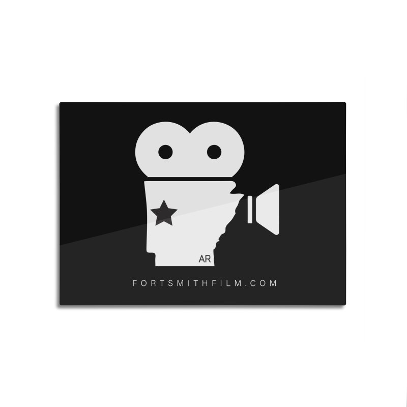Fort Smith Film Fest Icon (White) Home Mounted Aluminum Print by Turkeylegsray's Artist Shop