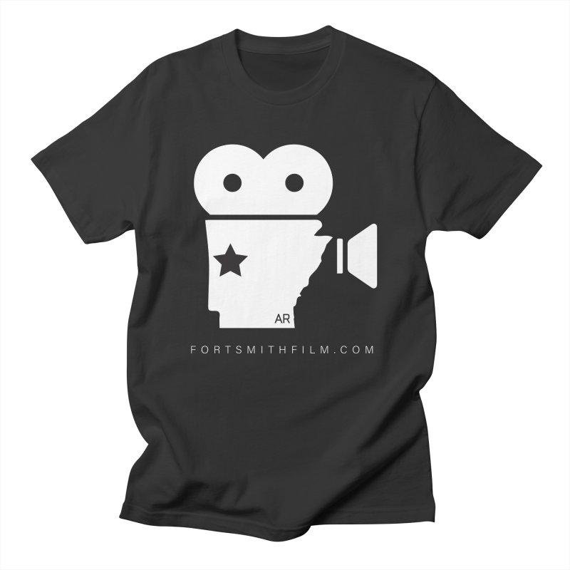 Fort Smith Film Fest Icon (White) Men's T-Shirt by Turkeylegsray's Artist Shop
