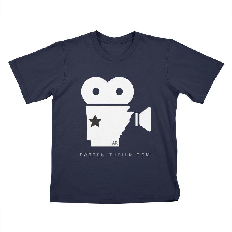 Fort Smith Film Fest Icon (White) Kids T-Shirt by Turkeylegsray's Artist Shop