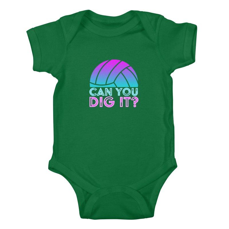Dig It Kids Baby Bodysuit by Turkeylegsray's Artist Shop