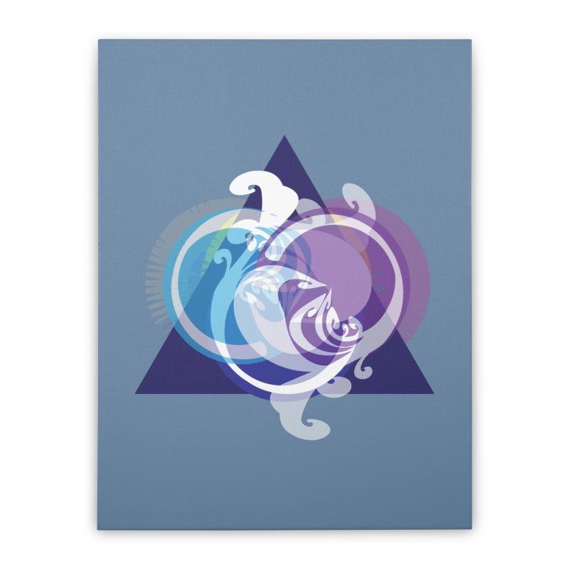 -TRIANGLE-  Home Stretched Canvas by Turkeylegsray's Artist Shop