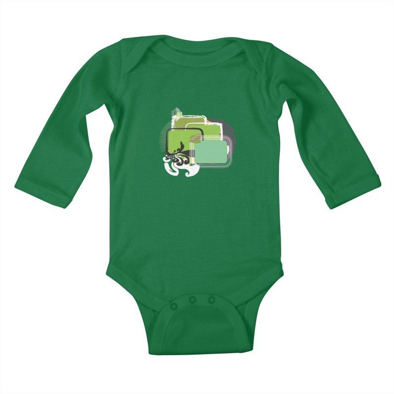 Squares+ Kids Baby Longsleeve Bodysuit by Turkeylegsray's Artist Shop