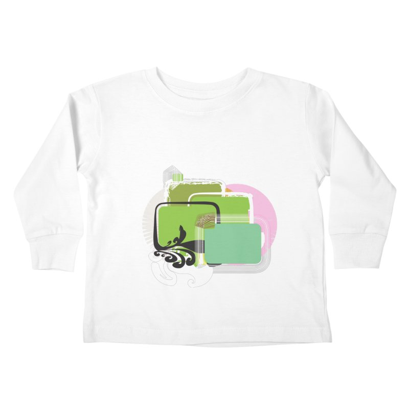 Squares+ Kids Toddler Longsleeve T-Shirt by Turkeylegsray's Artist Shop