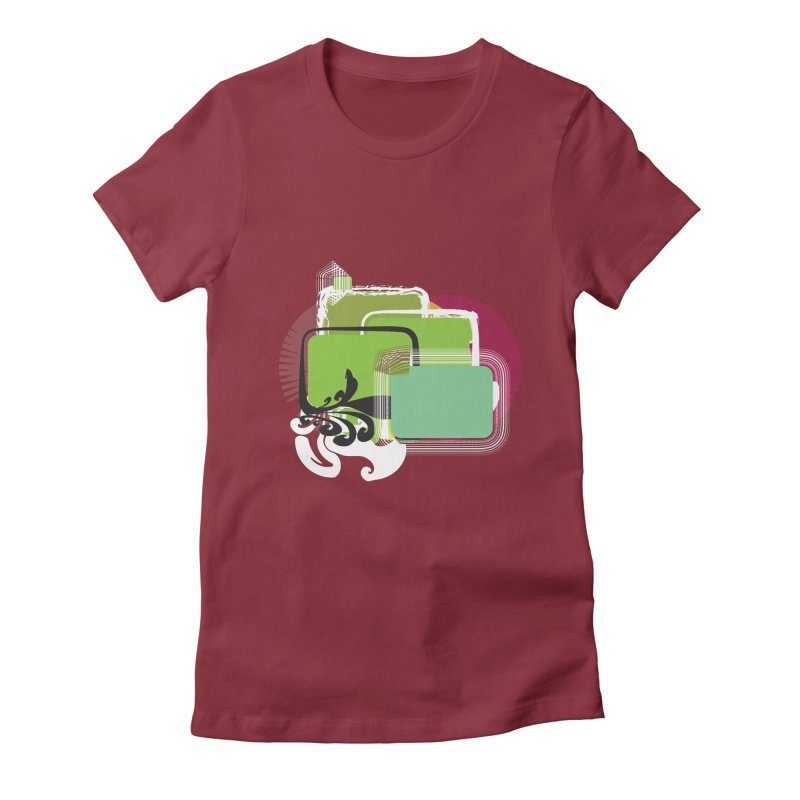 Squares+ Women's Fitted T-Shirt by Turkeylegsray's Artist Shop