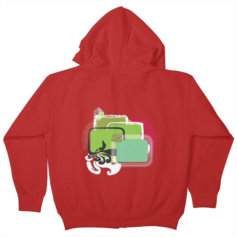 Squares+ Kids Zip-Up Hoody by Turkeylegsray's Artist Shop
