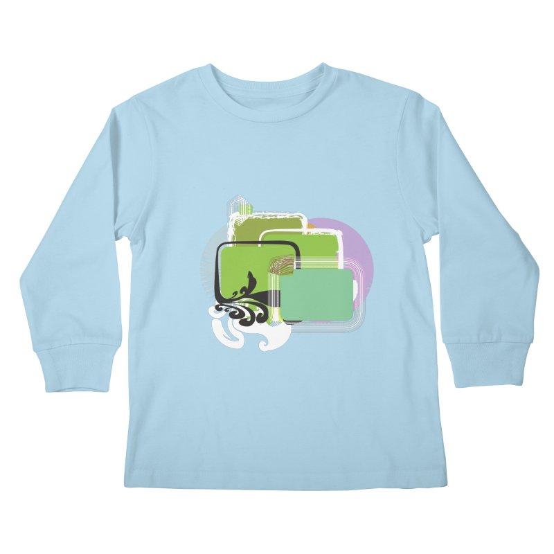 Squares+ Kids Longsleeve T-Shirt by Turkeylegsray's Artist Shop
