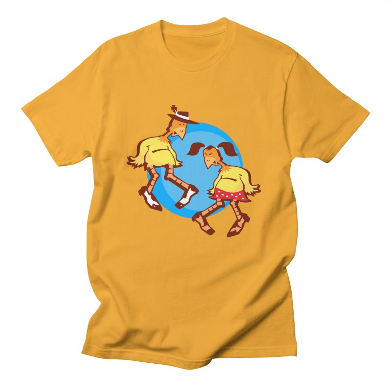 Dancing Chickens Men's T-shirt by Turkeylegsray's Artist Shop