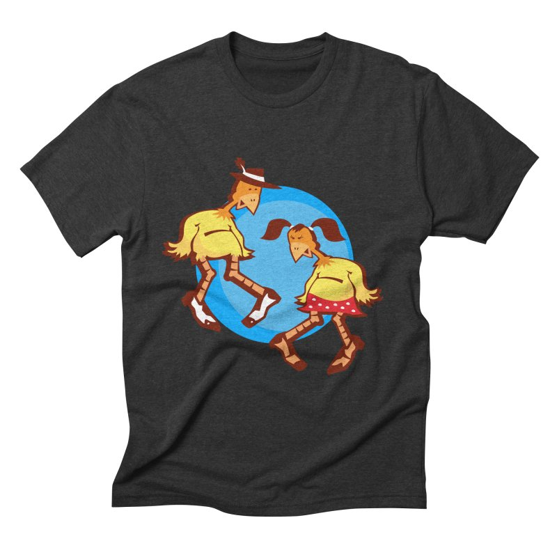 Dancing Chickens Men's Triblend T-shirt by Turkeylegsray's Artist Shop