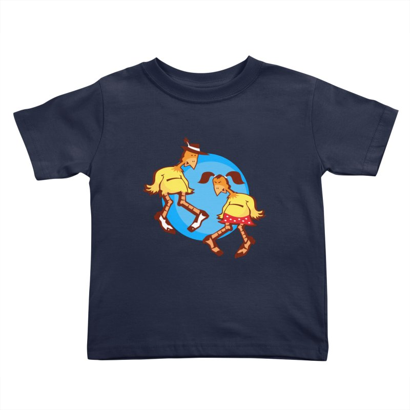 Dancing Chickens Kids Toddler T-Shirt by Turkeylegsray's Artist Shop